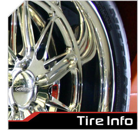 budnik wheels tire and size information