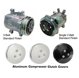 VINTAGE AIR COMPRESSORS and CLUTCH COVERS